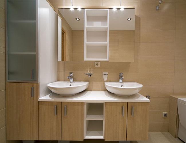 Projeto De Banheiro Planejado Com Tijolos De Vidro Espelhos Armários Picture -> Projeto Banheiro Planejado